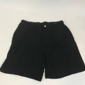 Marks & Spencer Mens Cotton Black Plain Lazy Short